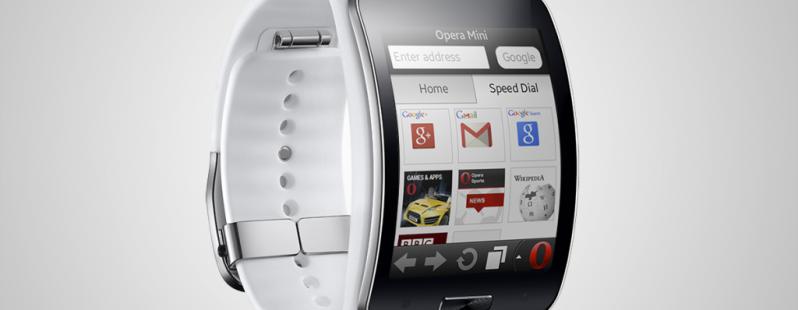 Opera Mini on a Samsung Gear S
